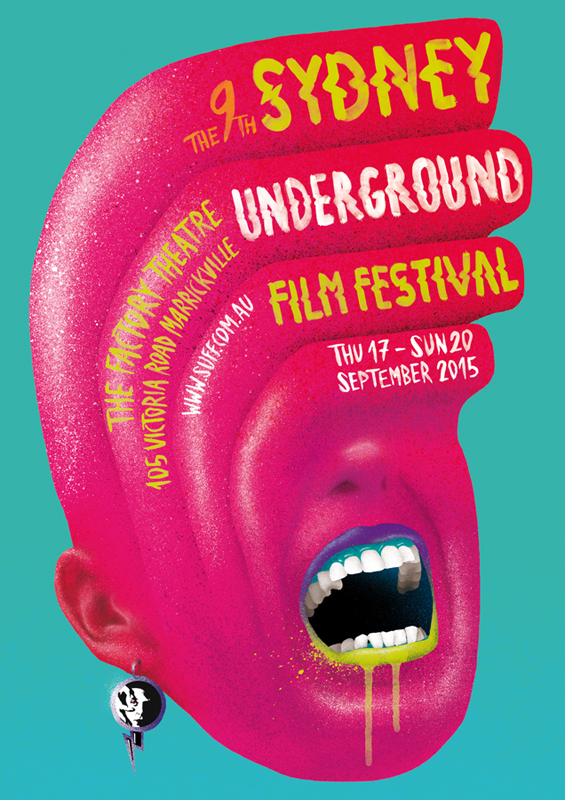"Visual Identity Of ""Sydney Underground Film Festival"", 2015"